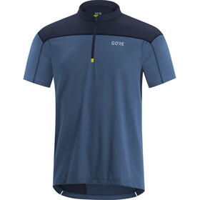 GORE WEAR C3 Maglia con zip Uomo, deep water blue/orbit blue